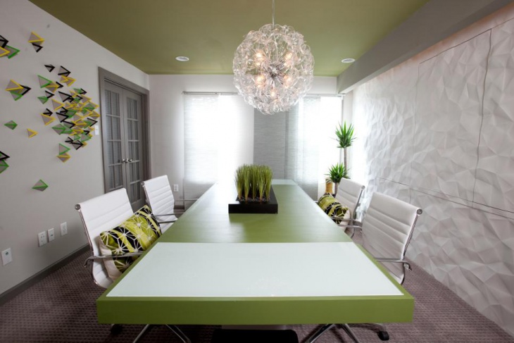 Home Office With Modern Conference Table