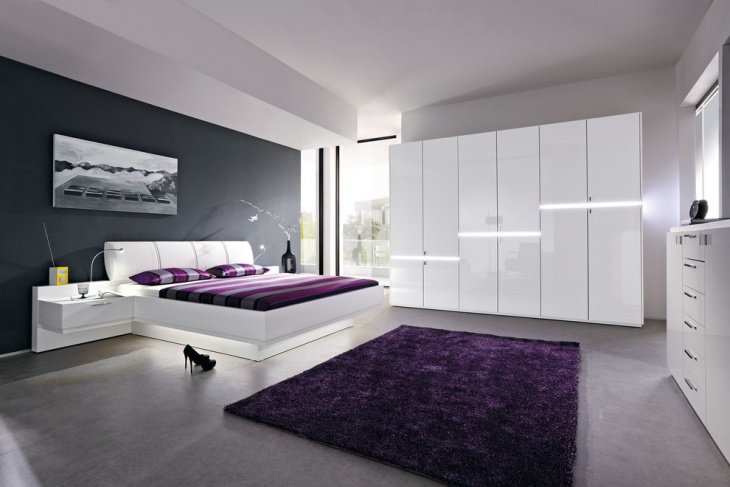 Modular Furnished Futuristic Bedroom Design