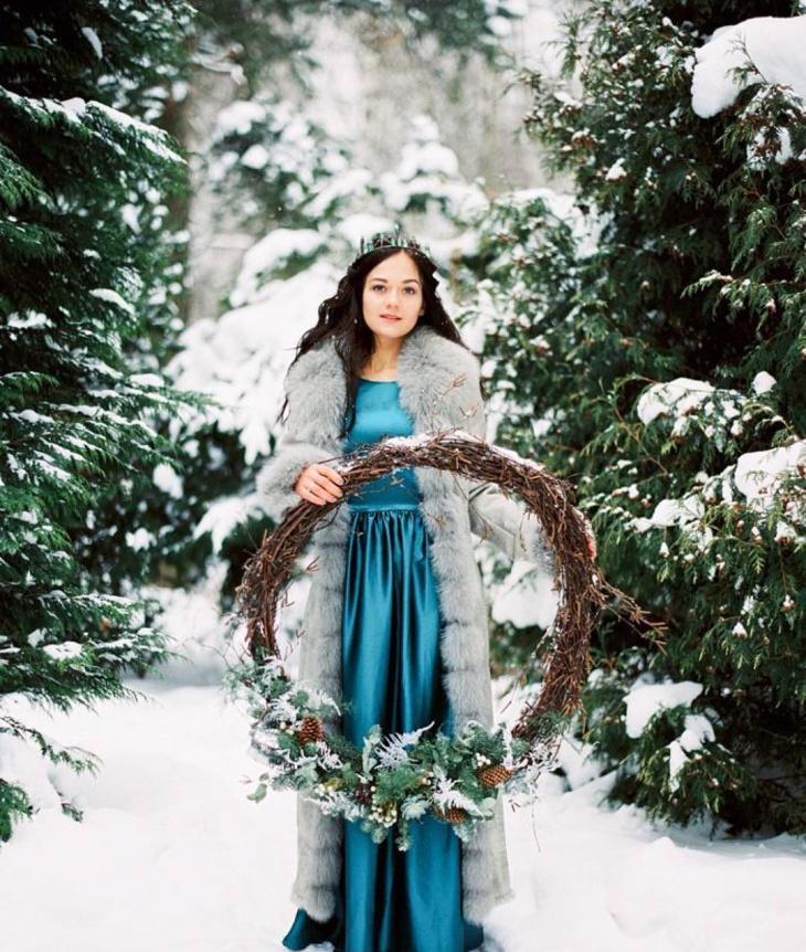 winter seasonal wedding dress design1