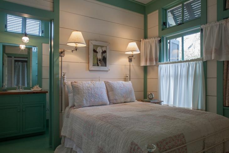 vintage cottage style bedroom design