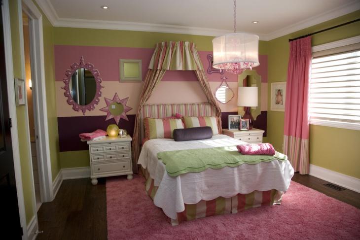 funky girls bedroom design idea