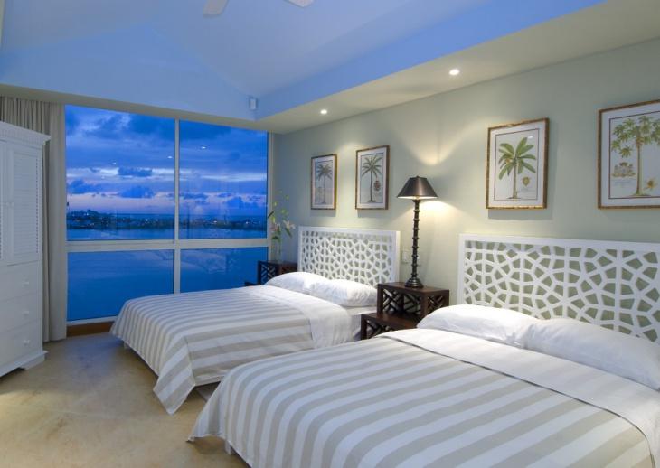 light and soft blue ceiling bedroom design