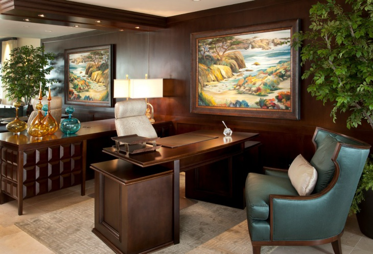 luxury transitional home office