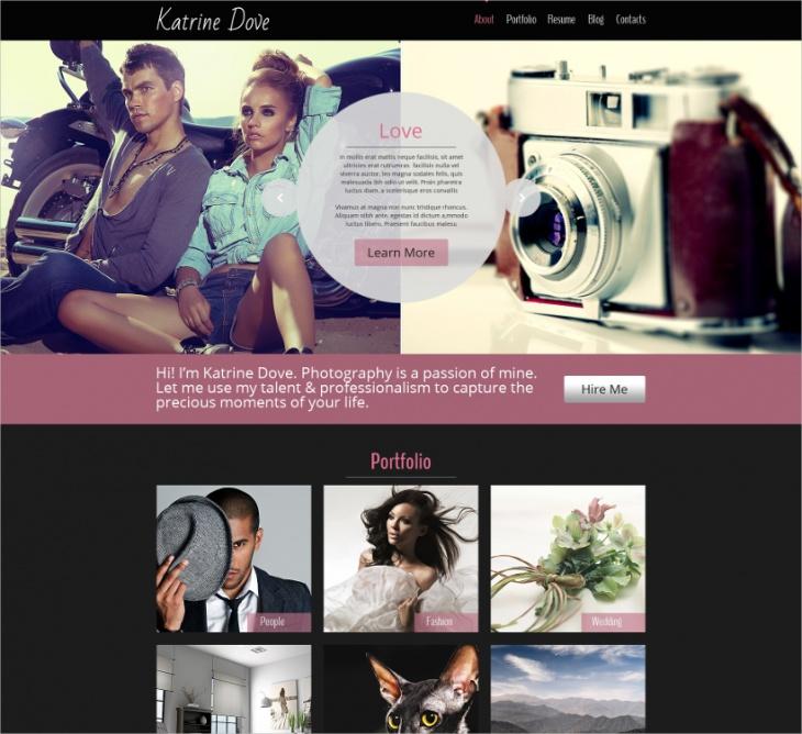 HTML5 Photo Website Theme