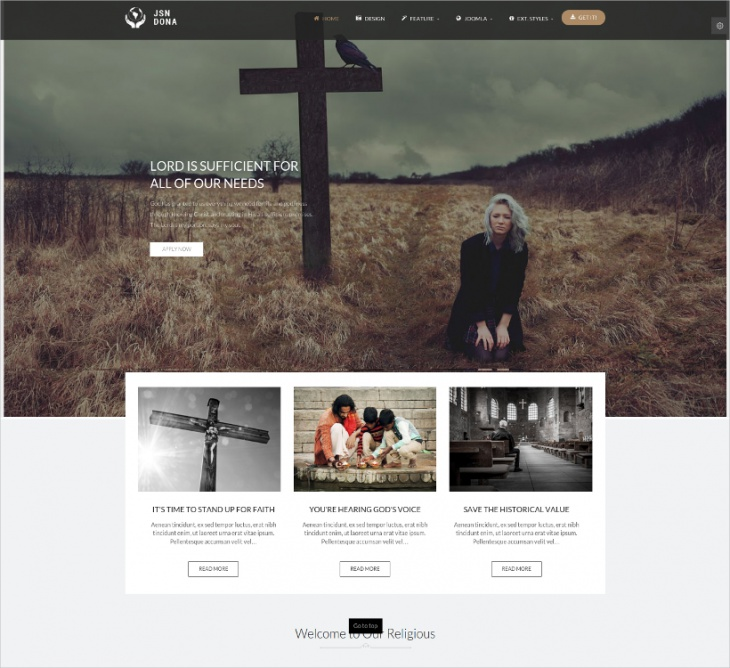 multipurpose joomla church template