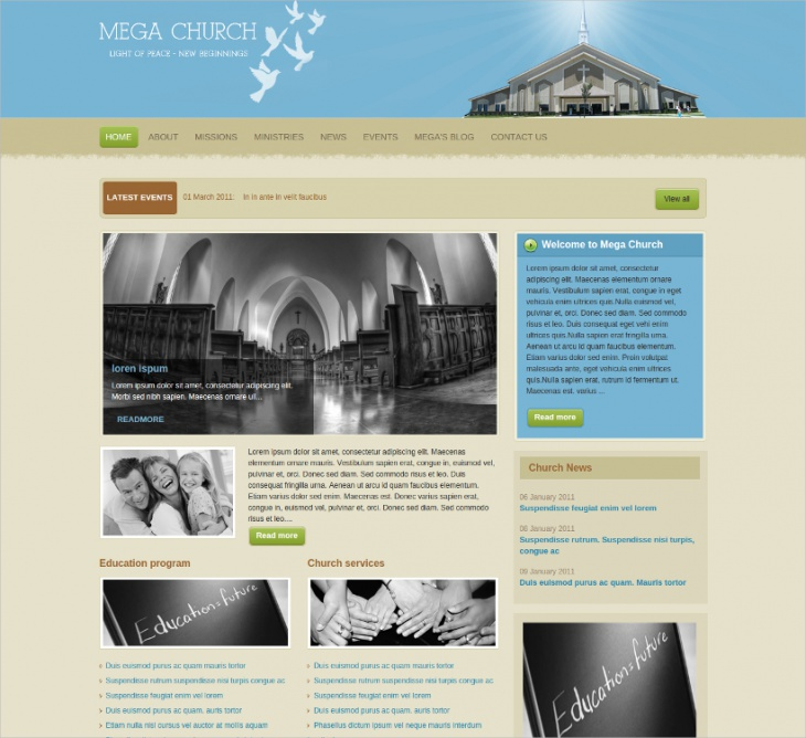 OT Church Joomla Template