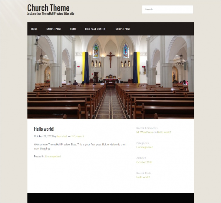 Responsive Church Theme