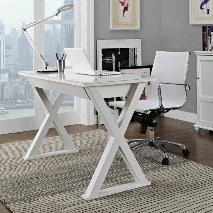 21+ White Office Desk Designs, Ideas, Plans | Design Trends