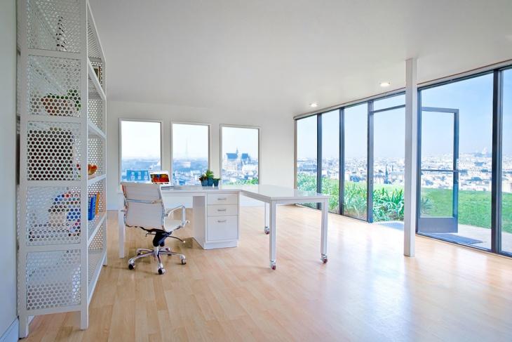 Stylish White Metal Office Desk Design