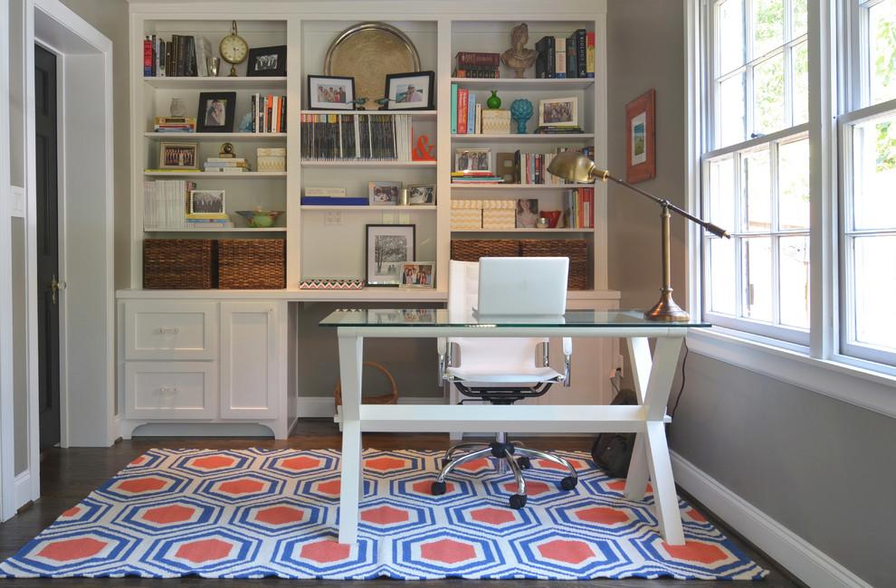 Beautiful White Office Desk Design