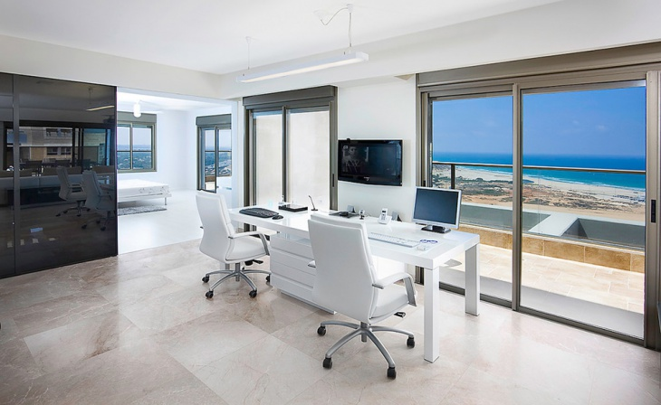 Home Office White Light Grey And White Home Office With Black Pink ...