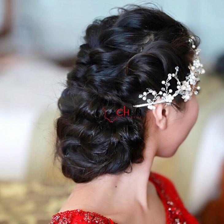 Twisted Hairstyle for Wedding