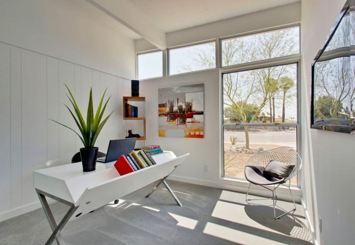 Stylish White Office Desk Design