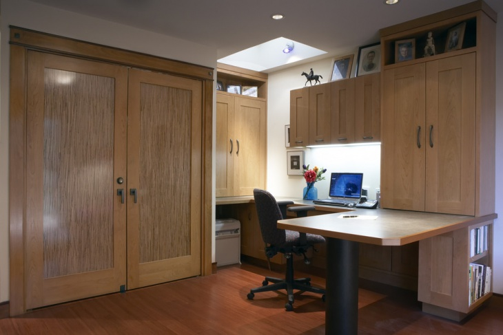 wooden desined home office cabinets