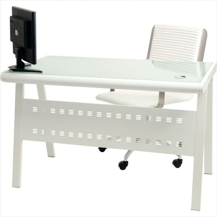 Nice Office Desk Design with Frosted Glass