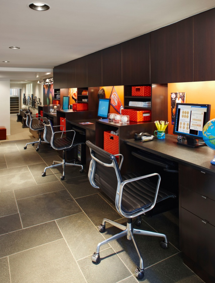 segmented cabinets in office