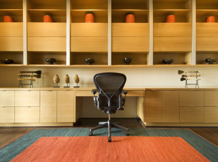 designed wooden cabinets home office