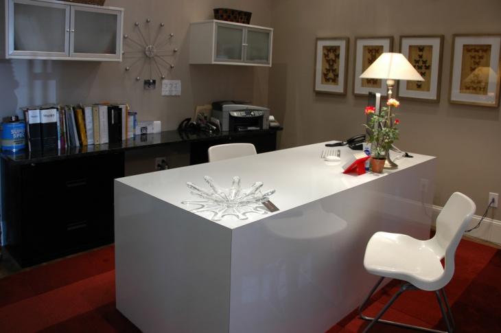 Contemporary White Office Desk design