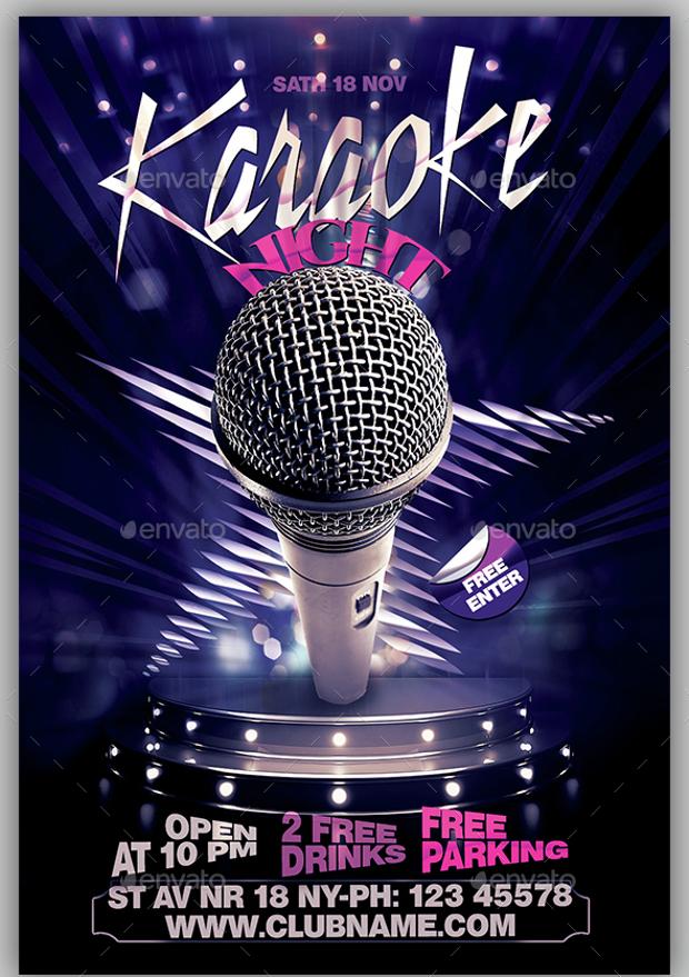 Club Karaoke Flyer
