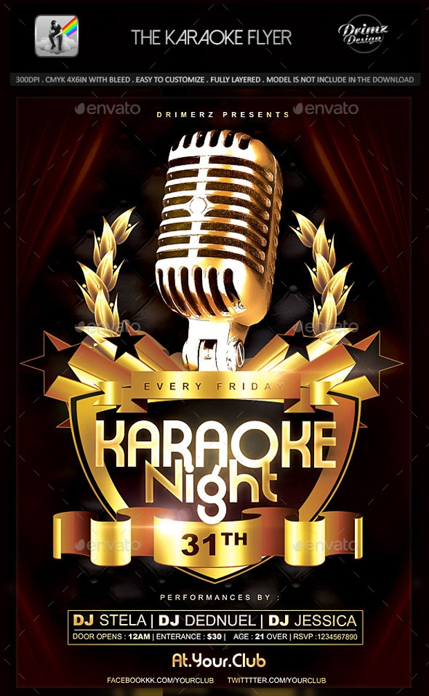 The Karaoke Night Flyer