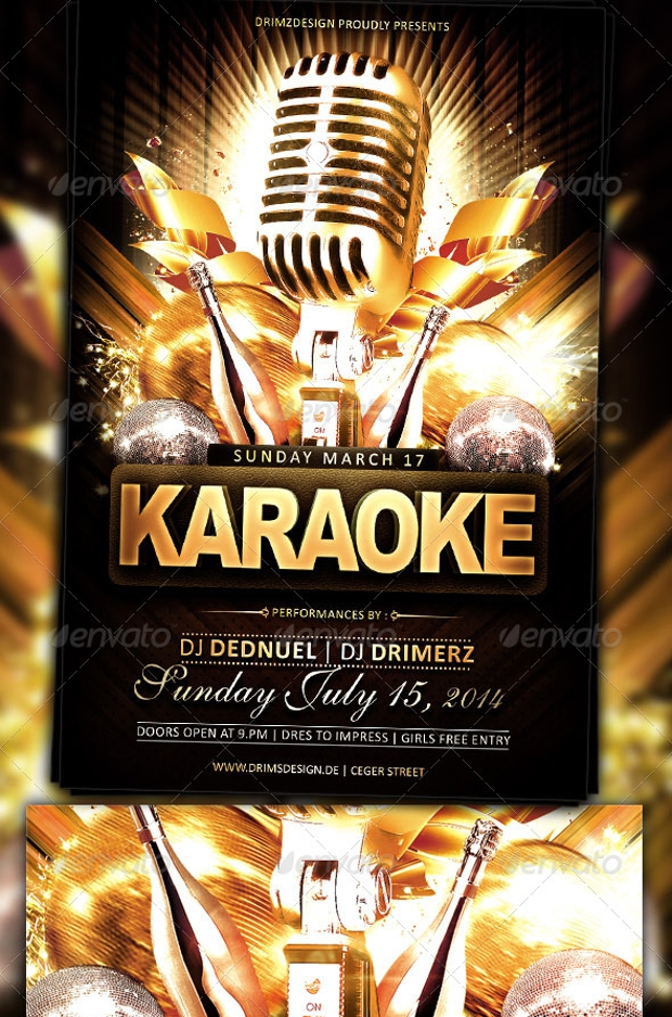 21  karaoke flyer design  psd download
