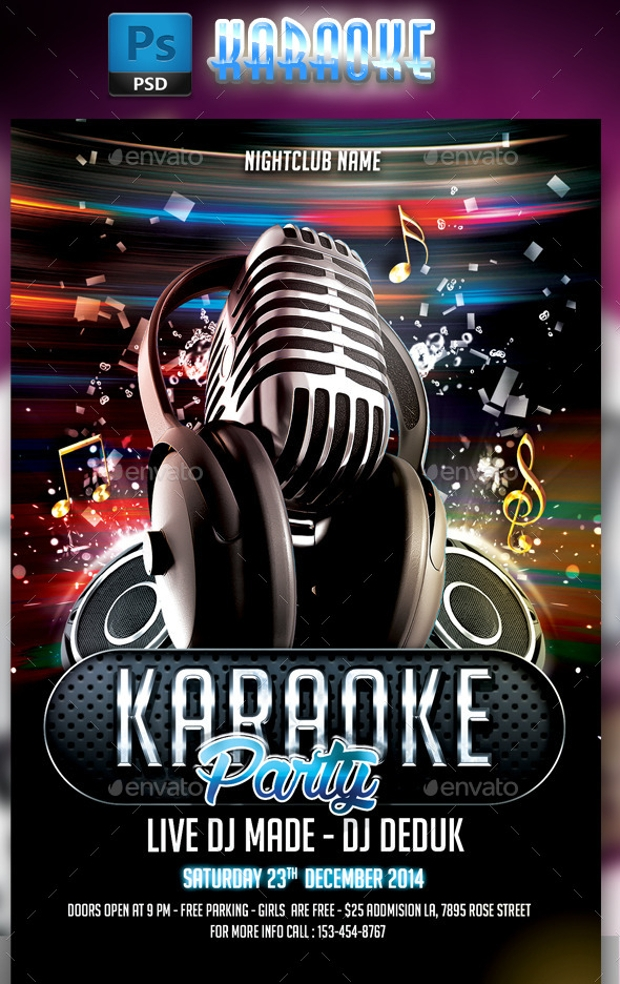 Karaoke Flyer Design Psd Download  Design Trends  Premium Psd