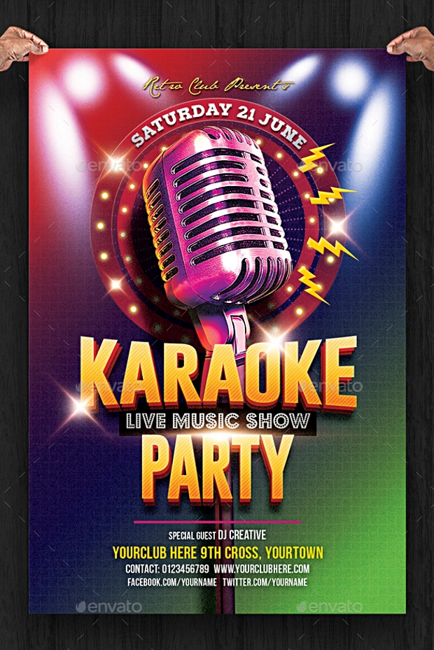 23  awesome karaoke flyer designs
