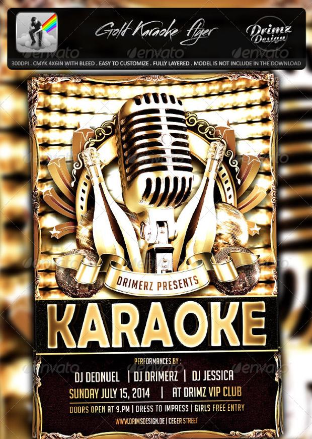 Gold Karaoke Flyer