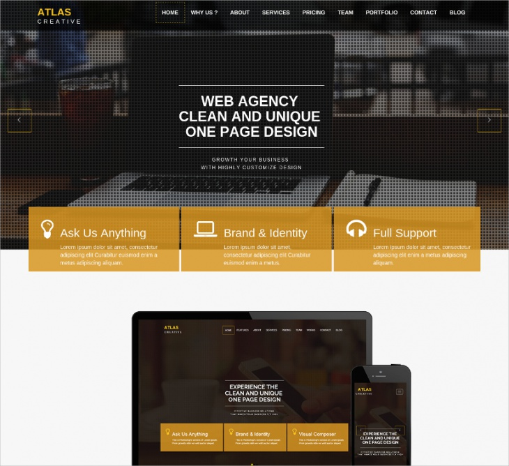 Parallax HTML5 Business Theme