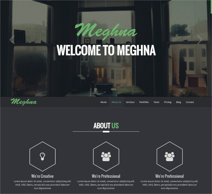 Responsive HTML5 Business Template