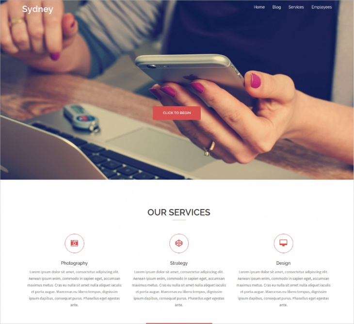 Sydney One Page Business Theme