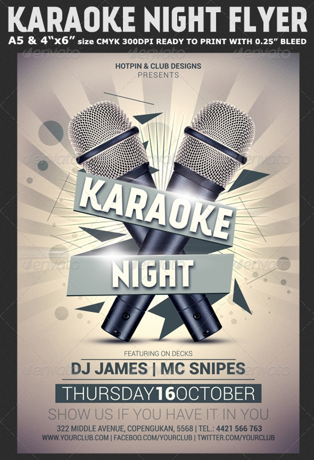 karaoke night flyer design