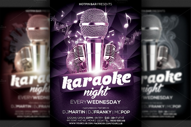 Modern Karaoke Night Flyer