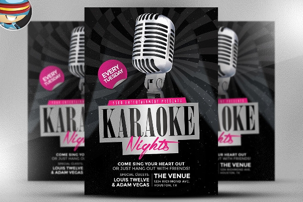 Edtable Karaoke Nights Flyer