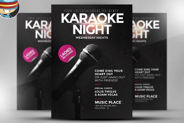 Black Karaoke Night Flyer