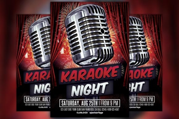 Elegant Karaoke Party Flyer
