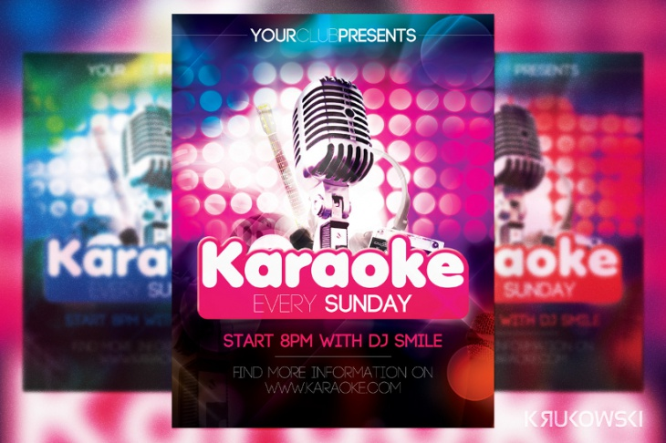Karaoke in Club Flyer