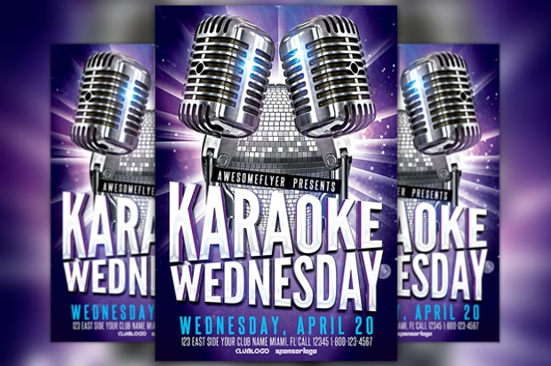 Karaoke Party Flyer Design