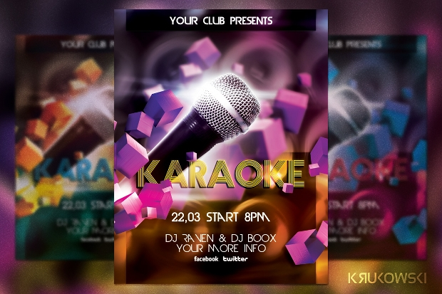 Unique Karaoke Flyer