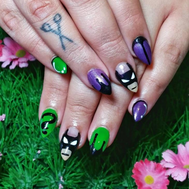 batman nail art for beautiful nails