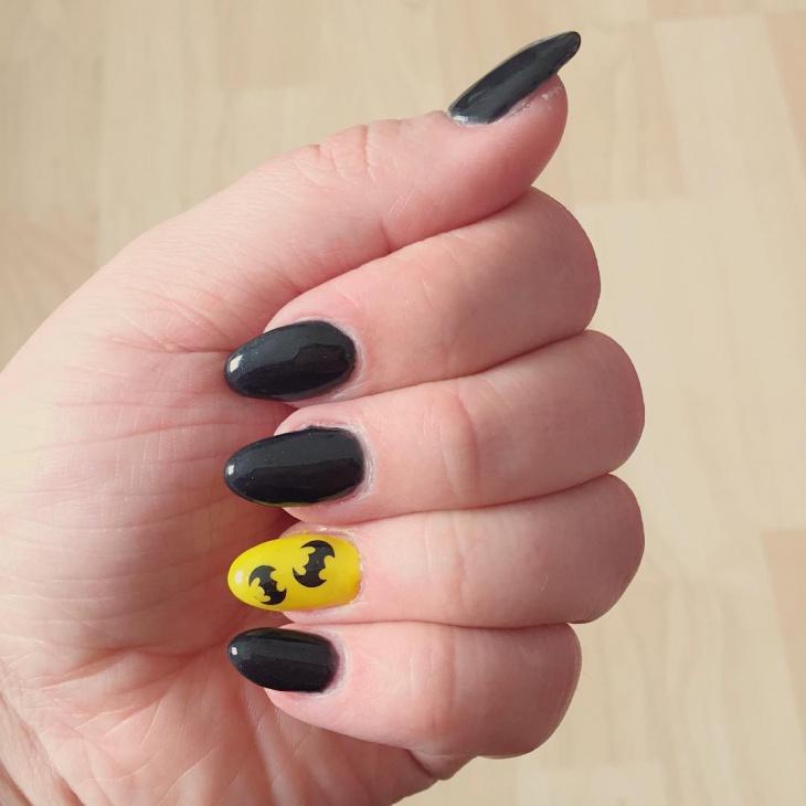 cute batman nail art