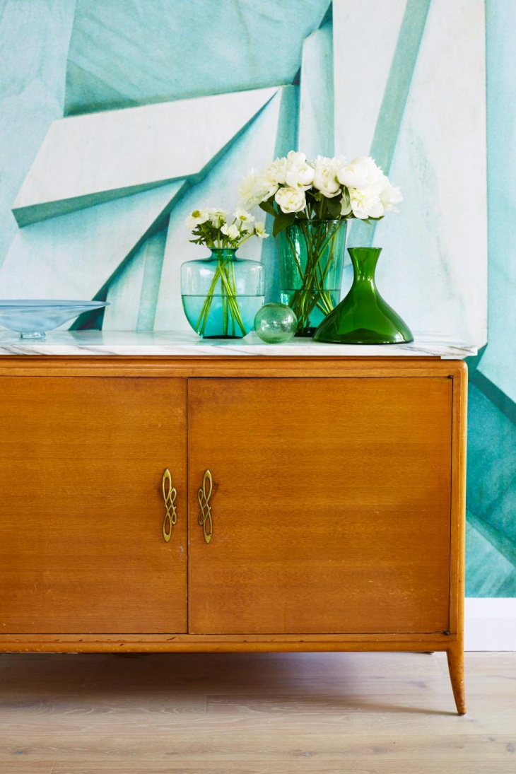 vintage sideboard with modern flair