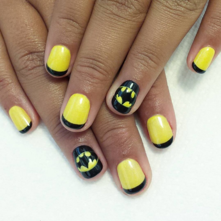 Attractive Batman Nail Art Ideas