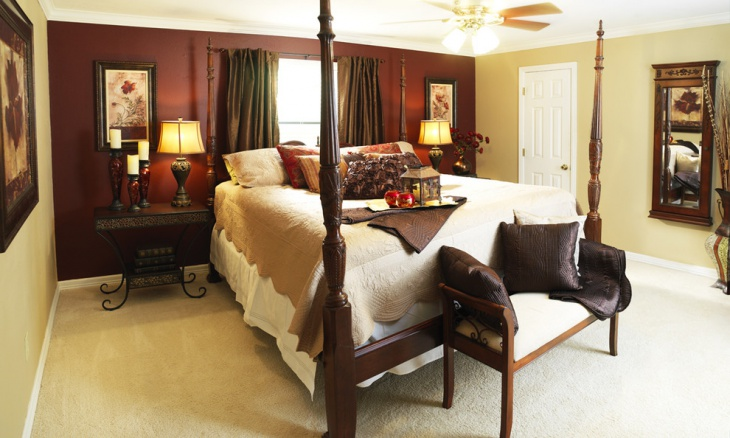 Beautiful Earth Tone Color Bedroom Design