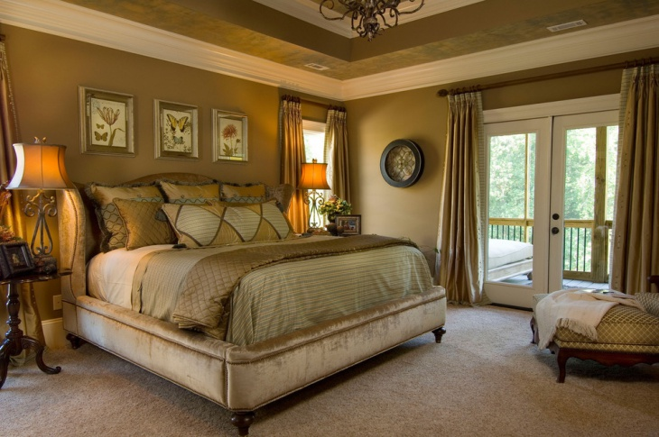 Mossy Green Palette Bedroom Design