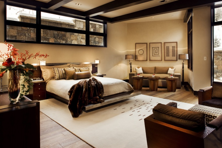 luxurious palette bedroom design idea