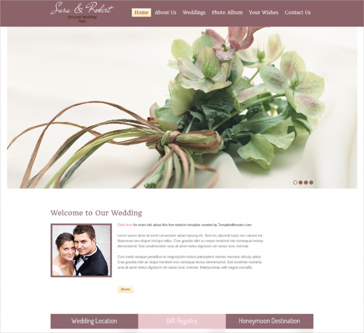 personal wedding page template