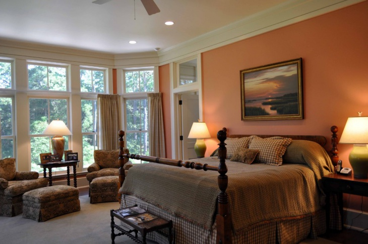 21 earth tone color palette bedroom designs decorating for Traditional master bedroom designs