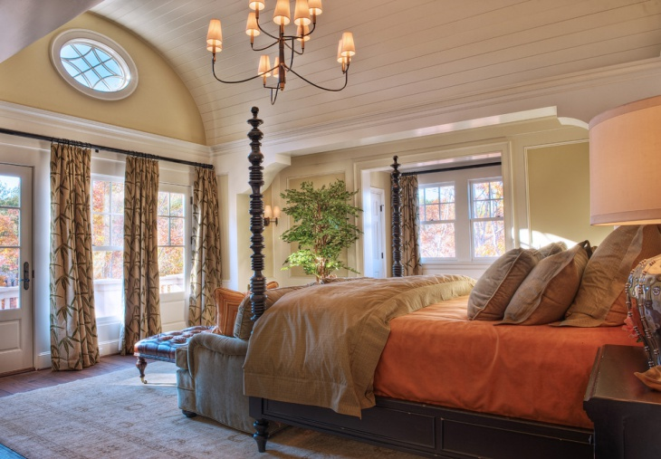 cool earth toned bedroom design