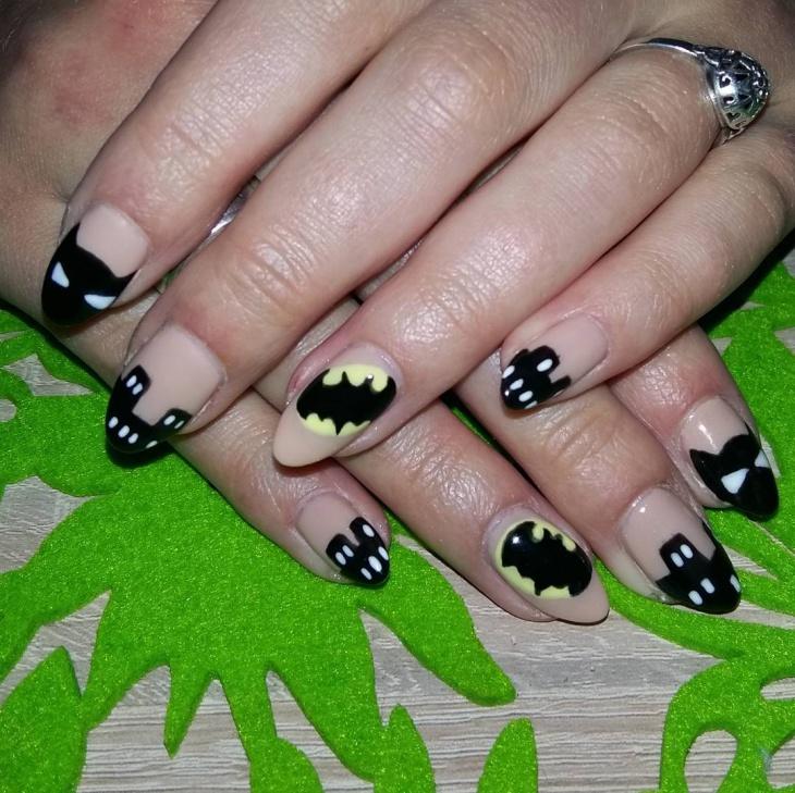 fabulous batman nail art